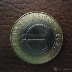 Euros: EUROS EN PRUEBA ECU ITALIA 1 EURO BIMETALICA CONMEMORATIVA DE LA LIRA AL EURO. Lote 40442619