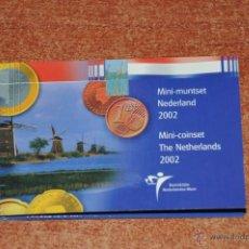 Euros: CARTERA OFICIAL HOLANDA 2002 MINI-CARTERA MINI COINSET RETIRADA DEL MERCADO. Lote 40494990