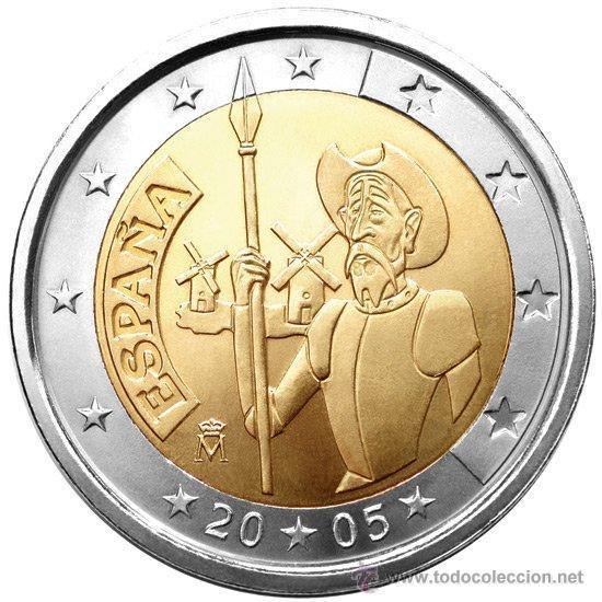 ESPAÑA 2 EUROS 2005 EL QUIJOTE (Numismática - España Modernas y Contemporáneas - Ecus y Euros)