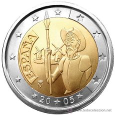 Euros: ESPAÑA 2 EUROS 2005 EL QUIJOTE. Lote 224812782