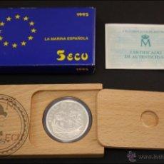 Euros: ESTUCHE FNMT - LA MARINA ESPAÑOLA. DON JUAN DE AUSTRIA - AÑO 1995 - 5 ECU - PLATA 925 - FDC/PROOF. Lote 41334946