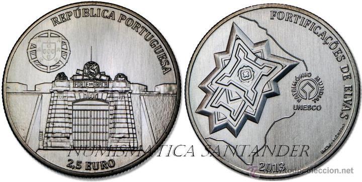 PORTUGAL 2013 2,5 EUROS PATRIMONIO MUNDIAL FORTIFICACIONES DE ELVAS (Numismática - España Modernas y Contemporáneas - Ecus y Euros)