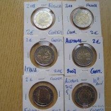 Euros: ENCARTONADAS MONEDAS DE 2€ CONMEMORATIVAS VARIOS. Lote 41498486