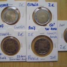Euros: ENCARTONADAS MONEDAS DE 2€ CONMEMORATIVAS ANIVERSARIOS C/ESPAÑA. Lote 41498590