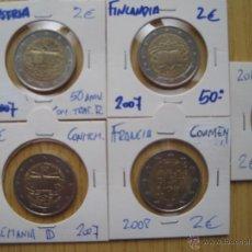 Euros: ESCARTONADAS MONEDAS DE 2€ CONMEMORATIVAS ANIVERSARIOS C/FINLANDIA. Lote 41498625