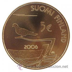 5 EUROS FINLANDIA 2006 150 AÑOS DESMILITARIZACION DE ALAND (Numismática - España Modernas y Contemporáneas - Ecus y Euros)