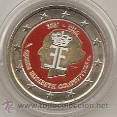 Euros: BELGICA 2012. 2 EUROS 75 ANIVERSARIO CONCUERSO REINA ELISABETH. COLOREADA. A COLOR. Lote 194520038