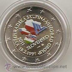 Euros: ESLOVAQUIA 2011. 2 EUROS GRUPO DEL VISEGRADO.COLOREADA. A COLOR. Lote 194586503