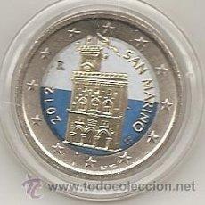 Euros: SAN MARINO. 2 EUROS DE CIRCULACION.COLOREADOS. A COLOR.. Lote 194586556