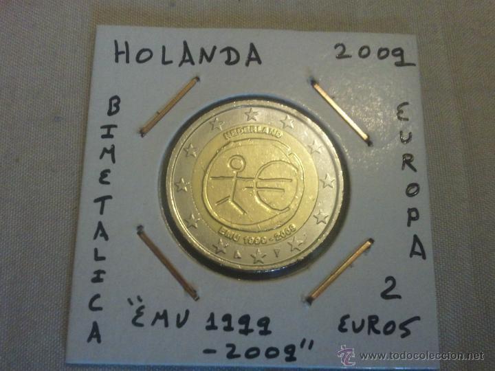 Moneda De 2 Euros De Holanda De 2009 Emu 19992 Comprar Monedas
