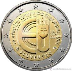 Euros: ESLOVAQUIA 2014. 2 EUROS CONMEMORATIVOS 10º ANIVERSARIO ADHESION A LA UE. Lote 195494133
