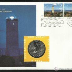 Euros: HOLANDA 1994 MONEDA DE 1 ECU FAROS NAVEGACION- BARCOS- SCFIFFE- SOBRE FILATELICO NUMISMATICO- BARCO. Lote 43071737