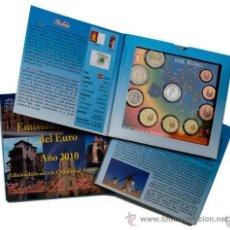 Euros: CARTERA ESPAÑA 2010 CASTILLA LA MANCHA 9 MONEDAS + MEDALLA DE PLATA . Lote 43781704