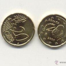 Euros: ESPAÑA 20 CÉNTIMOS 2000 S/C DE BOLSA FNMT, PERFECTA. Lote 43804534