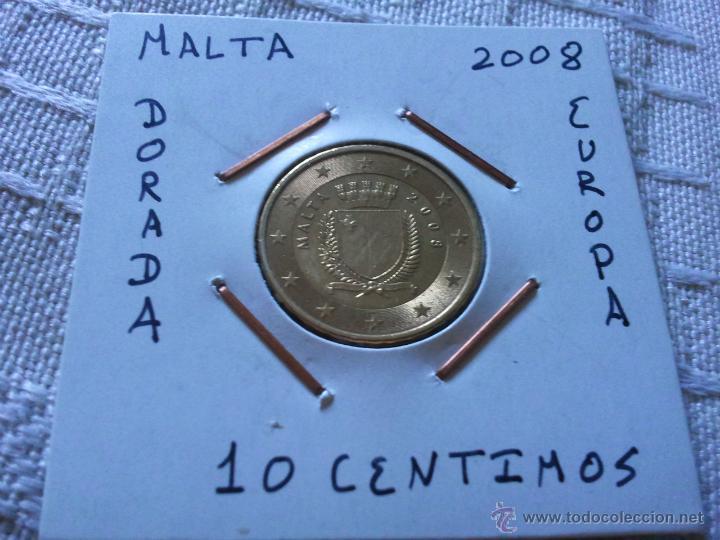 MONEDA DE 10 EURO CENT DE MALTA 2008 EBC ENCARTONADA (Numismática - España Modernas y Contemporáneas - Ecus y Euros)