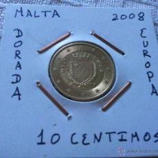 Euros: MONEDA DE 10 EURO CENT DE MALTA 2008 EBC ENCARTONADA. Lote 205831750