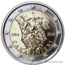 Euros: ITALIA 2 EUROS 2014 200º ANIVERSARIO DE LOS CARABINIERI. Lote 229177710