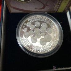 Euros: MEDALLA PLATA PURA , DESAPARICION PESETA, APARICION EURO, 2002 , PROOF, ESTUCHE , ORIGINAL. Lote 44268805
