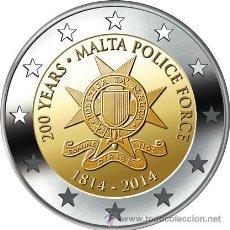 Euros: MALTA 2 EUROS 2014 200º ANIVERSARIO POLICIA MALTESA. Lote 211656159