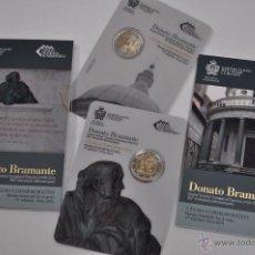 Euros: SAN MARINO: SET OFICIAL CON LA MONEDA 2 EUROS 2014 BRAMANTE. Lote 252009580