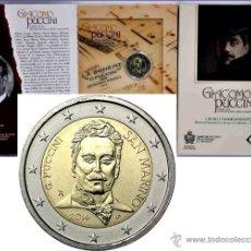 Euros: CARTERA SAN MARINO 2 EUROS 2014 GIANCOMO PUCCINI. Lote 49204043