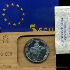 Euros: ESPAÑA: 5 ECU PLATA 1989 CARLOS V EN LA BATALLA DE MÜNHLBERG *NUMISBUR*. Lote 45548381