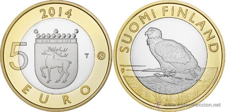 FINLANDIA 5 EUROS 2014 REGION ALAND ÁGUILA DE COLA BLANCA (Numismática - España Modernas y Contemporáneas - Ecus y Euros)
