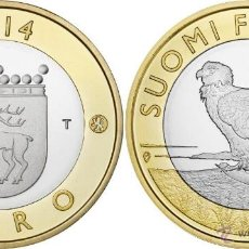 Euros: FINLANDIA 5 EUROS 2014 REGION ALAND ÁGUILA DE COLA BLANCA. Lote 245348320