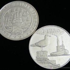 Euros: HOLANDA 1997 - 2 EURO SAIL TEMATICA FAUNA Y BARCOS DE NAVEGACION 1- BOATS- VELEROS- AVES GAVIOTAS. Lote 45604906