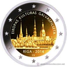 Euros: LETONIA 2 EUROS 2014 RIGA CAMPITAL EUROPEA DE LA CULTURA. Lote 223309076