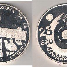 Euros: MONEDA DE 25 ECU DE JUAN CARLOS I DE 1992. MADRID CAPITAL EUROPEA DE LA CULTURA. PLATA. PROOF. (JC8). Lote 46695807
