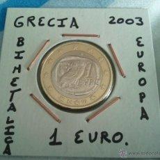 Euros: MONEDA DE 1 EURO DE GRECIA DEL AÑO 2003 EBC ENCARTONADA. Lote 47250119
