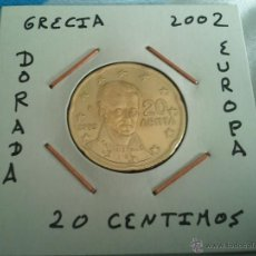 Euros: MONEDA DE 20 EURO CENT DE GRECIA DEL AÑO 2002 EBC ENCARTONADA. Lote 59795510