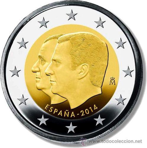 ESPAÑA 2€ 2014 CAMBIO DE TRONO (Numismática - España Modernas y Contemporáneas - Ecus y Euros)