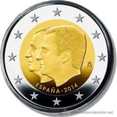 Euros: ESPAÑA 2€ 2014 CAMBIO DE TRONO. Lote 140331422