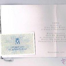 Euros: 1 ECU PLATA AÑO 1989 CON CERTIFICADO DE AUTENTICIDAD EADE 1991. Lote 47868742