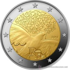 Euros: FRANCIA 2 EUROS 2015 PAZ EN EUROPA. Lote 278699478