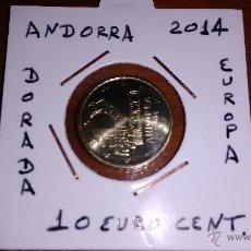 Euros: MONEDA DE ANDORRA DE 10 EURO CENT DEL AÑO 2014 SIN CIRCULAR ENCARTONADA. Lote 87097966