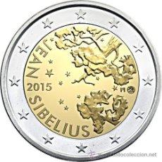 Euros: FINLANDIA 2 EUROS 2015 150 AÑOS DEL NACIMIENTO DE JEAN SIBELIUS. Lote 241340090