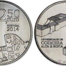 Euros: PORTUGAL 2014 2,5 EUROS PATRIMONIO MUNDIAL UNIVERSIDAD DE COIMBRA. Lote 228249500