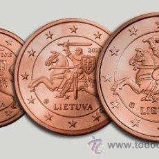 Euros: LITUANIA 1 2 Y 5 CÉNTIMOS 2015 SIN CIRCULAR. Lote 111633524