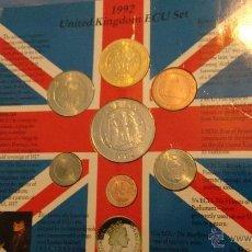 Euros: COLECCION DE MONEDAS DE GRAN BRETAÑA DE ECUS 1992 SIN CIRCULAR EN CARTERA. Lote 49355442