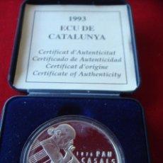 Euros: 1993 - CATALUNYA - 25 ECU PLATA - PAU CASALS - PROOF. Lote 49670434