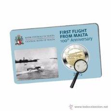Euros: MALTA 2015. COINCARD DE 2 EUROS CONMEMORATIVA DE LOS 100 AÑOS DEL PRIMER VUELO DESDE MALTA. Lote 110437810