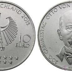 Euros: ALEMANIA 10 EUROS 2015 200 ANIVERSARIO DEL NACIMIENTO DE OTTO VON BISMARCK (CECA A). Lote 50420549