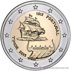 Euros: PORTUGAL 2 EUROS 2015 500 AÑOS DE LOS PRIMEROS CONTACTOS CON TIMOR. Lote 213173040