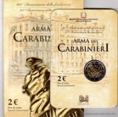 Euros: ITALIA 2014. COINCARD, BLISTER, FOLDER DE LOS CARABINIERI.. Lote 277557298