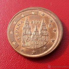 Euros: ## ERROR ## 2 CENTIMOS ESPAÑA 2001 DESPLAZADOS ##. Lote 51654130