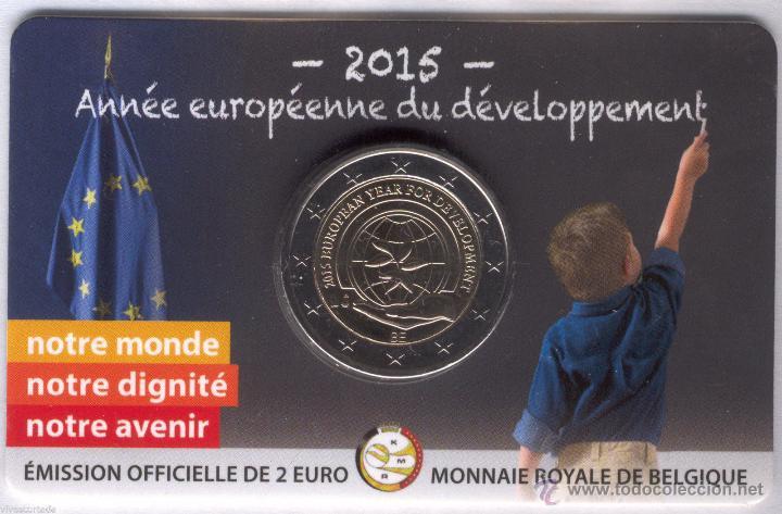 BELGICA 2015 COINCARD 2€ *AÑO EUROPEO DEL DESARROLLO* (Numismática - España Modernas y Contemporáneas - Ecus y Euros)