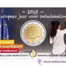 Euros: BELGICA 2015 COINCARD 2€ *AÑO EUROPEO DEL DESARROLLO* - TIPO I-. Lote 86449831